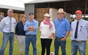 Vendors Lachy Day, Days Whiteface and Alastair Day, Allendale are pictured with the key volume buyers
