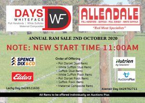 2020 Allendale Ram Sale Notice